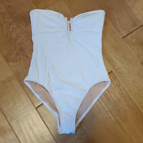 J. Crew one-piece strapless bathing suit